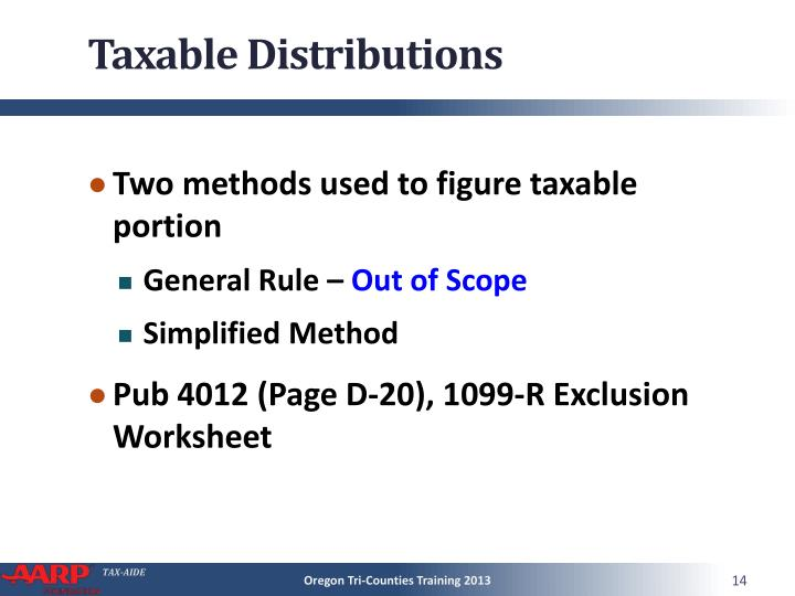 Taxable Distributions