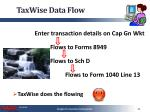 taxwise data flow