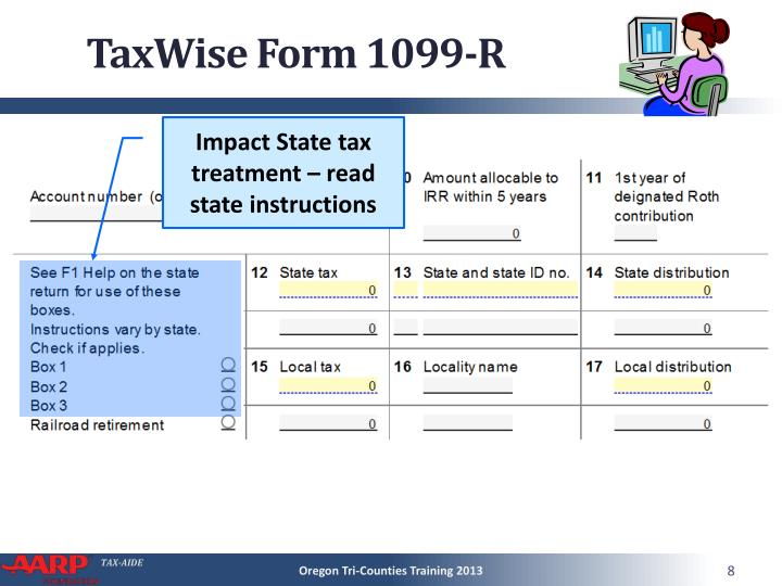 TaxWise Form 1099-R