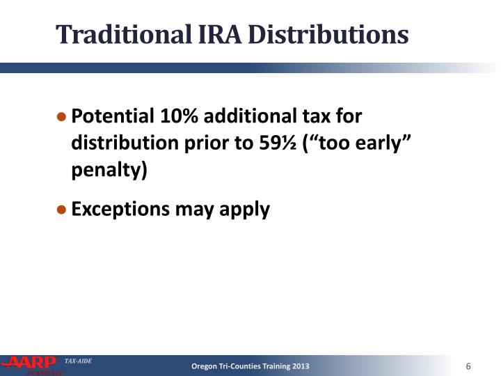 Traditional IRA Distributions