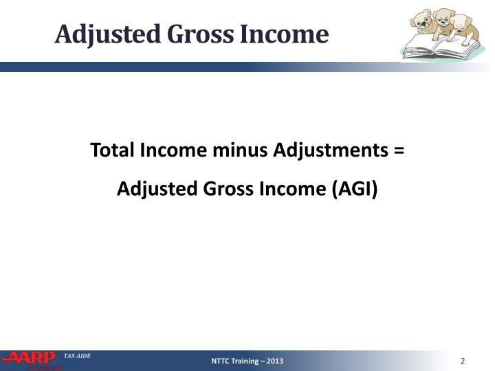 Total Income minus Adjustments =