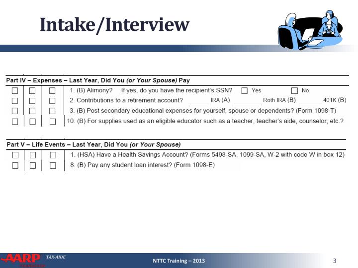 Intake/Interview
