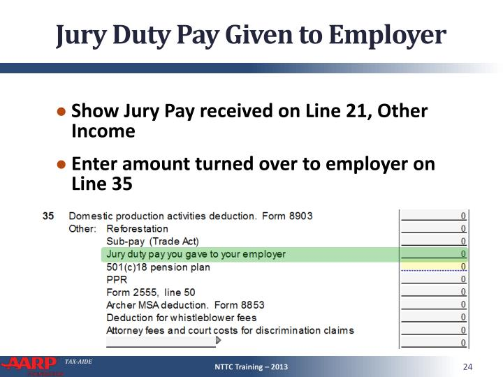Jury Duty Pay Given to Employer