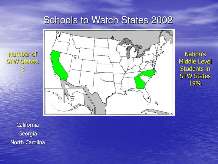 Schools to Watch States 2002