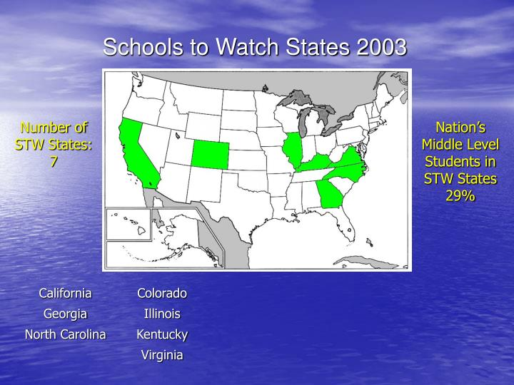 Schools to Watch States 2003