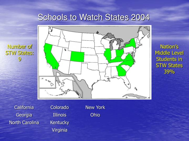 Schools to Watch States 2004