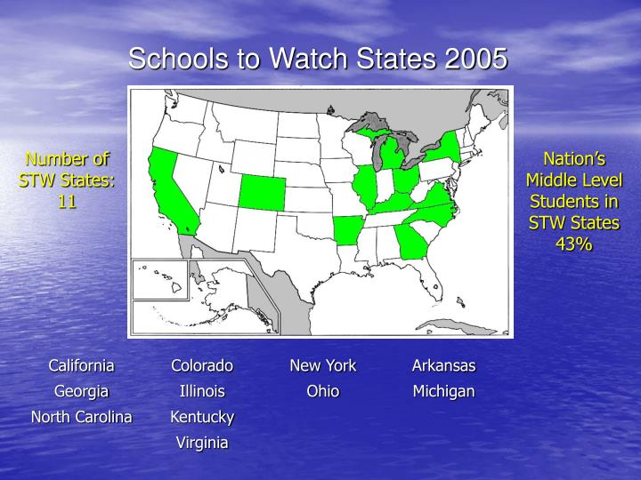 Schools to Watch States 2005
