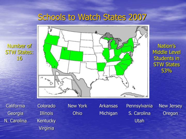 Schools to Watch States 2007