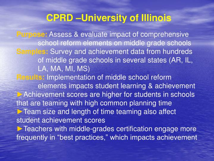 CPRD –University of Illinois