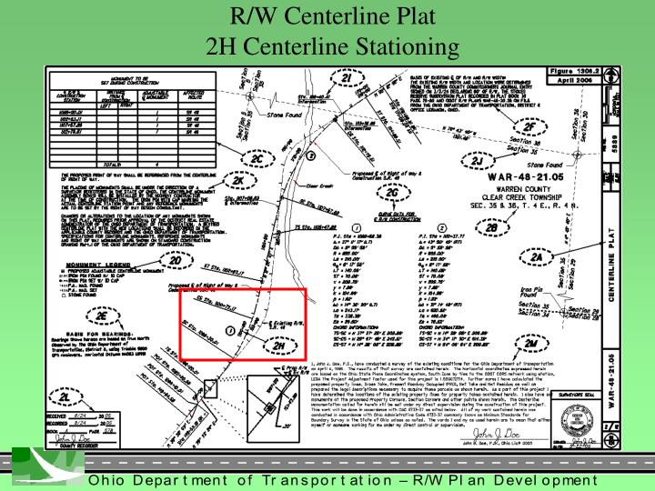R/W Centerline Plat