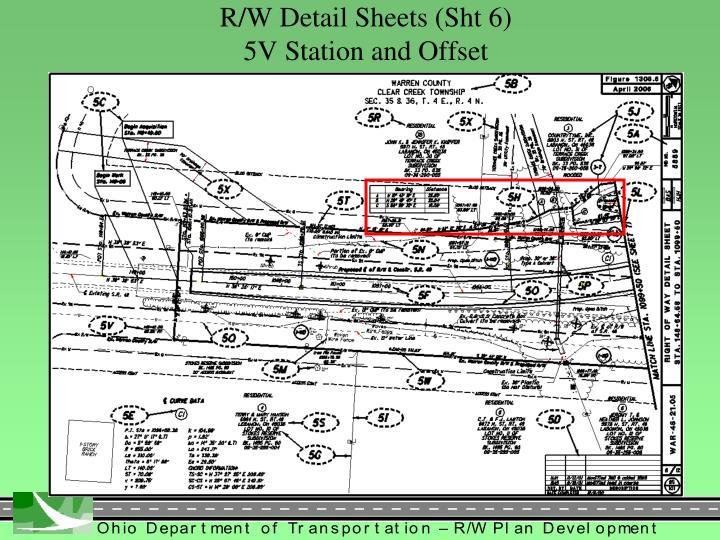 R/W Detail Sheets (Sht 6)