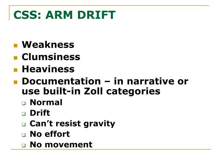 CSS: ARM DRIFT