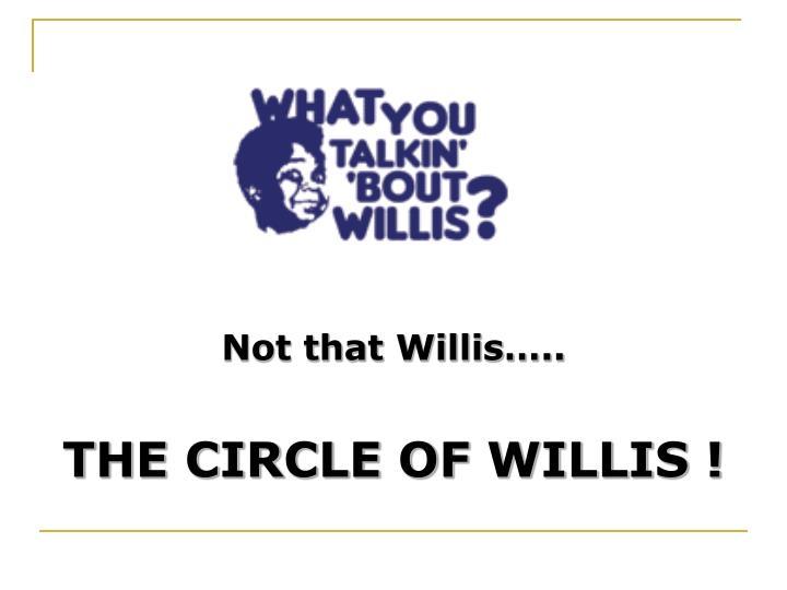 Not that Willis…..