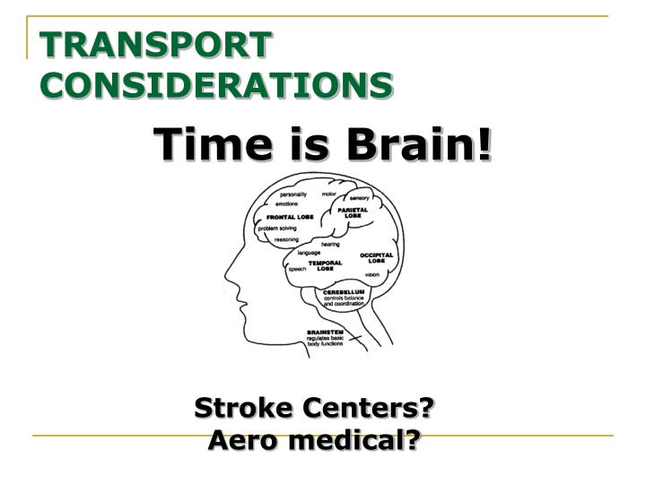 Time is Brain!