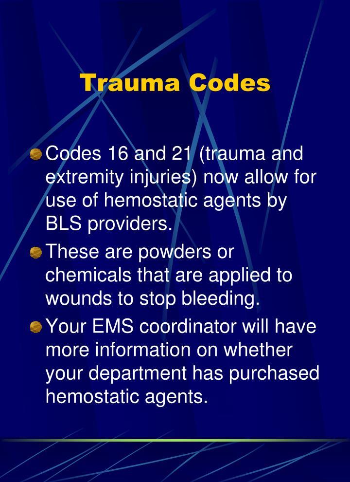 Trauma Codes