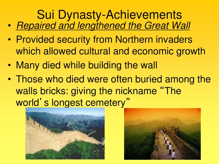 Sui Dynasty-Achievements