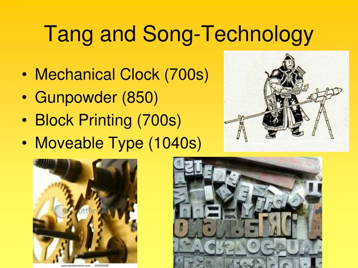 Tang and Song-Technology