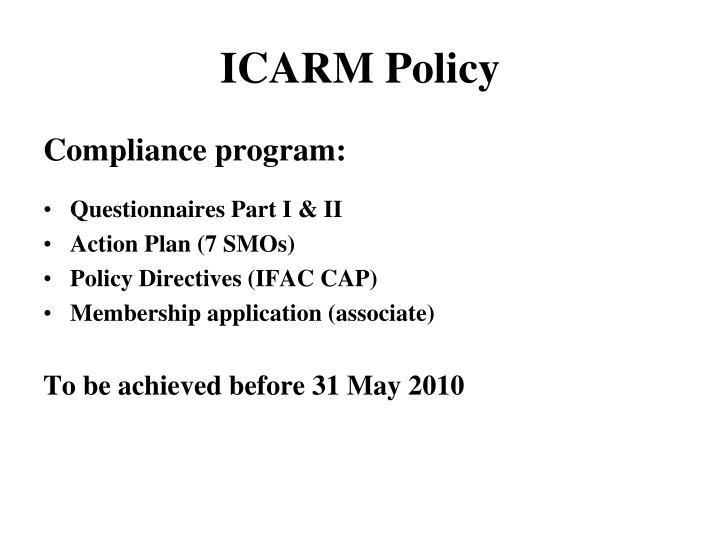ICARM Policy