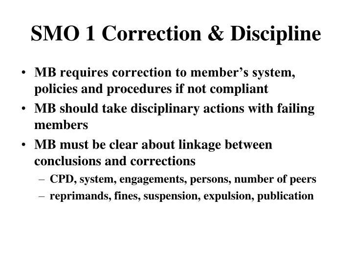 SMO 1 Correction & Discipline