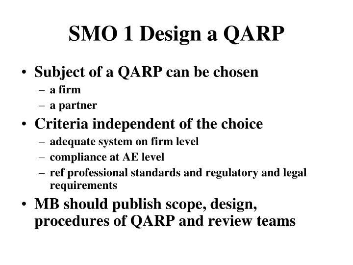 SMO 1 Design a QARP