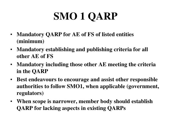 SMO 1 QARP