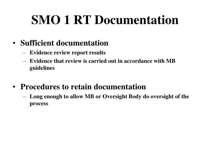 SMO 1 RT Documentation