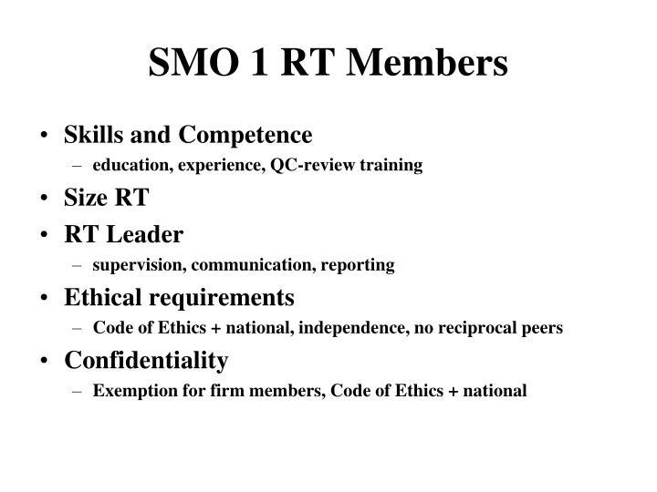 SMO 1 RT Members