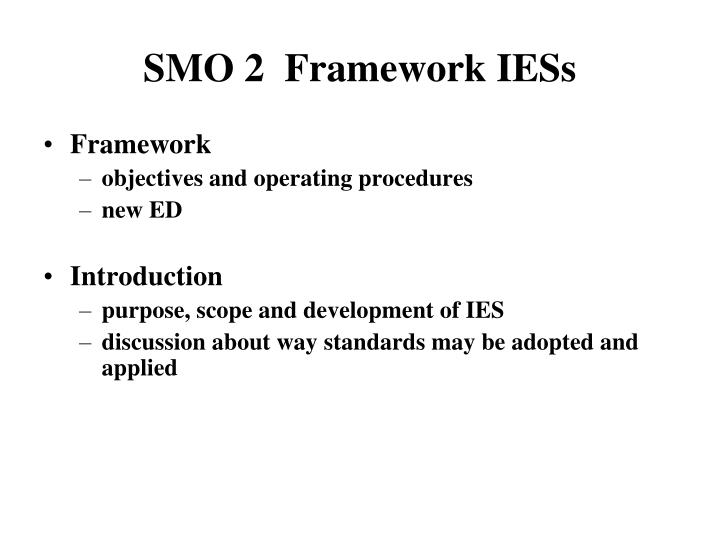 SMO 2  Framework IESs