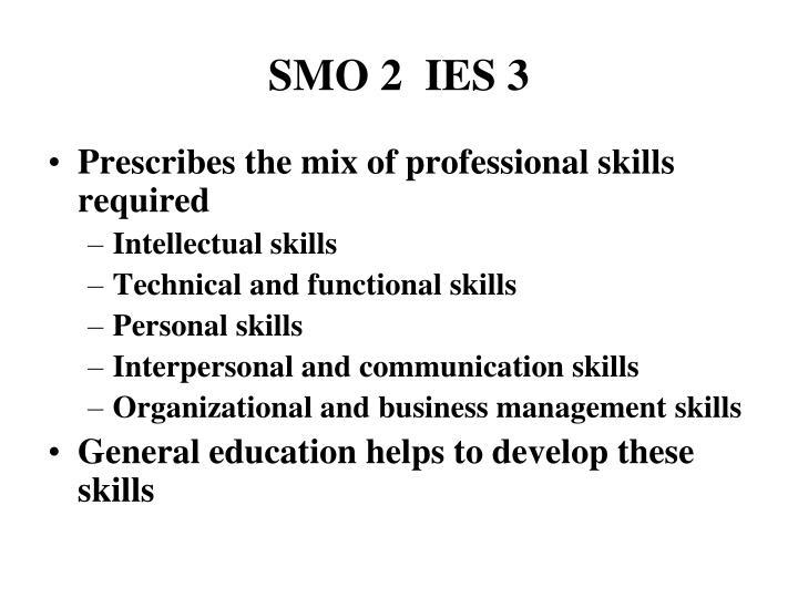 SMO 2  IES 3