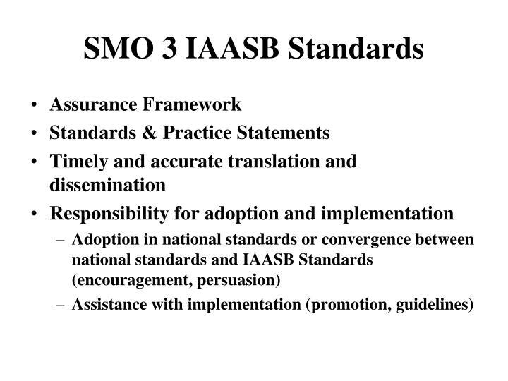 SMO 3 IAASB Standards