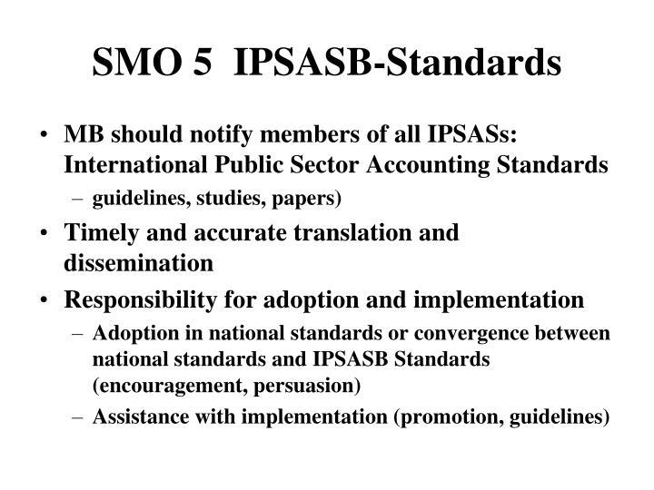 SMO 5  IPSASB-Standards