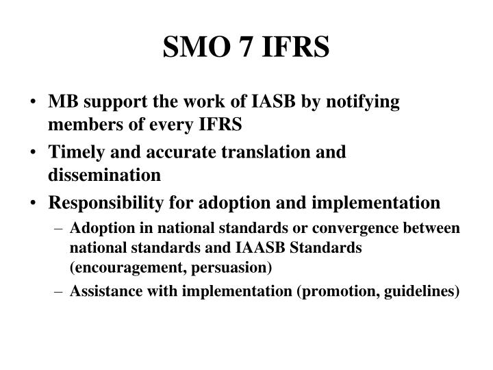 SMO 7 IFRS