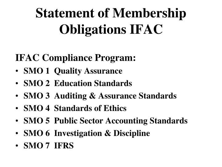 Statement of Membership Obligations IFAC