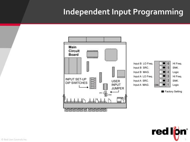 Independent Input Programming