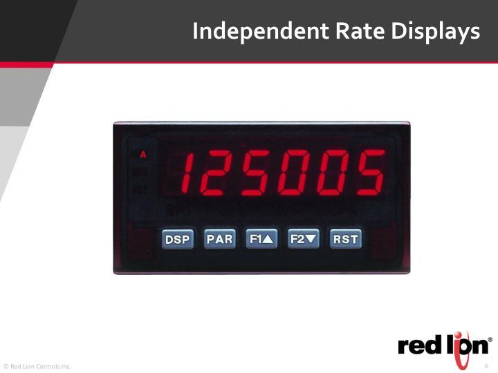 Independent Rate Displays