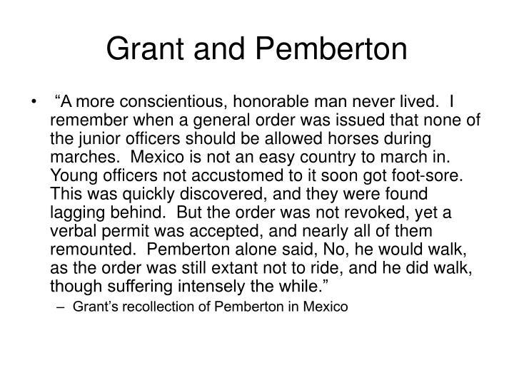 Grant and Pemberton