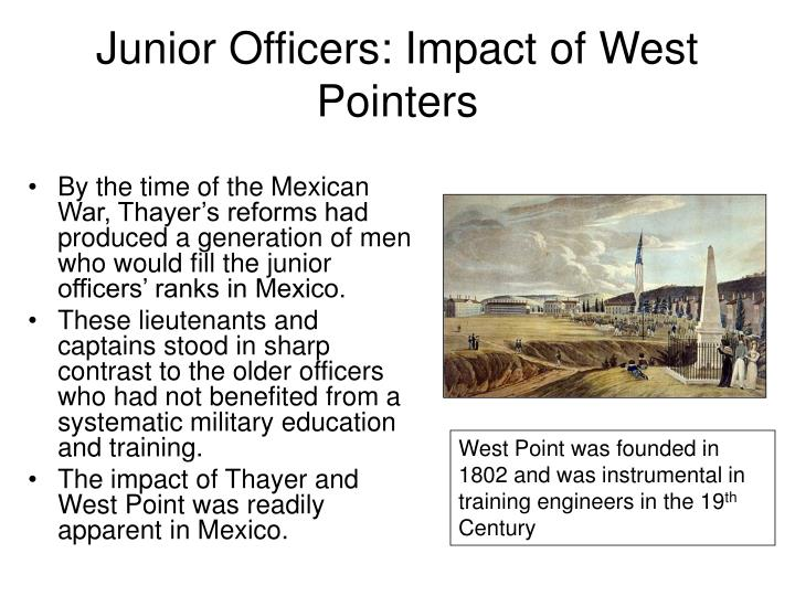 Junior Officers: Impact of West Pointers