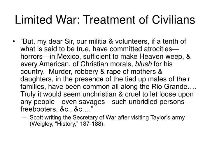 Limited War: Treatment of Civilians