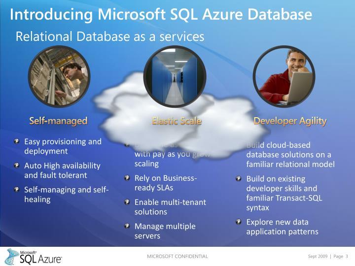 Introducing Microsoft SQL Azure Database