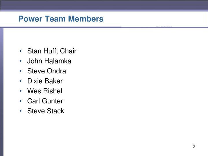 Power Team Members