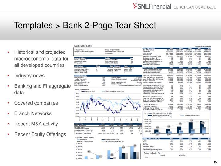 Templates > Bank 2-Page Tear Sheet