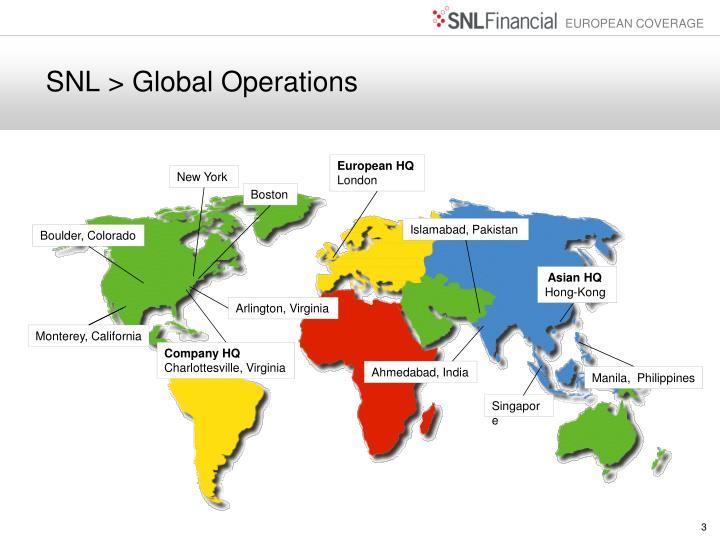 SNL > Global Operations