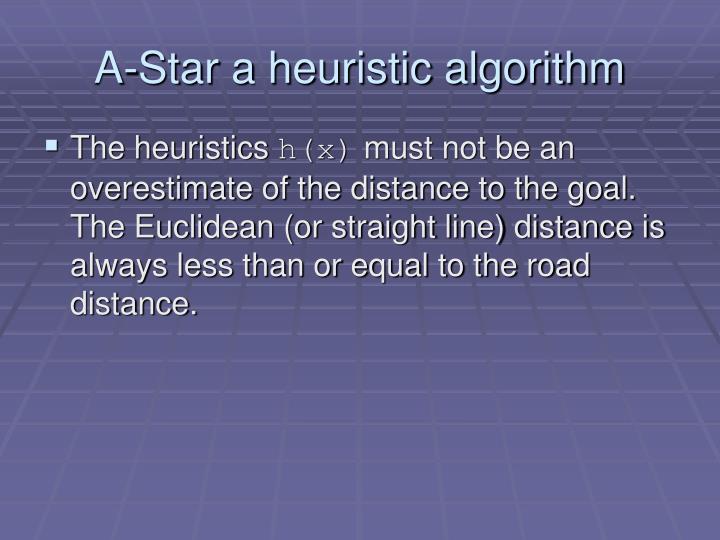 A-Star a heuristic algorithm