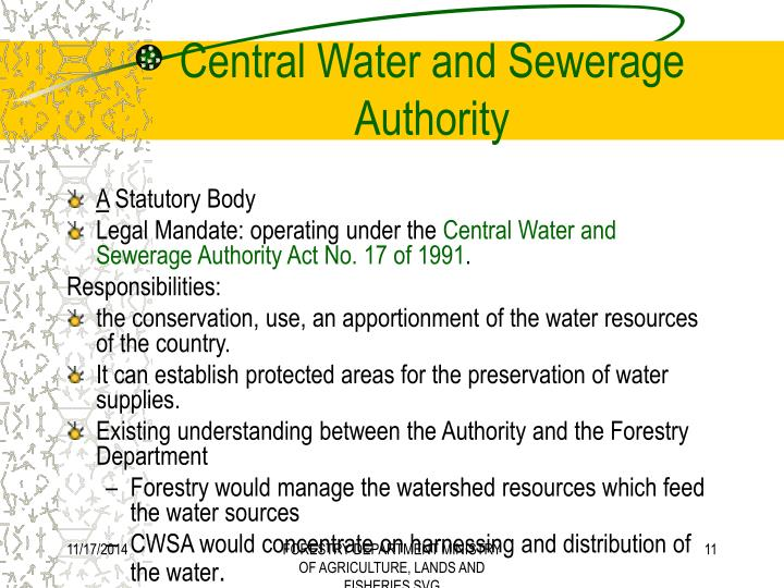 Central Water and Sewerage Authority