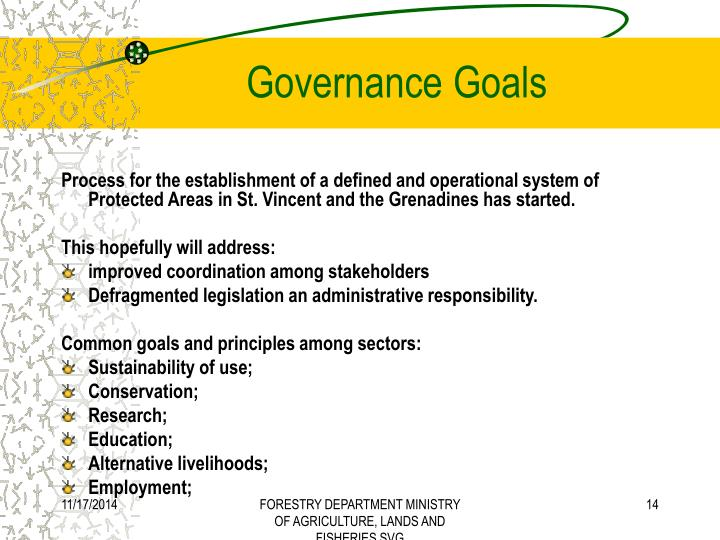 Governance Goals