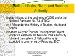 national parks rivers and beaches authority