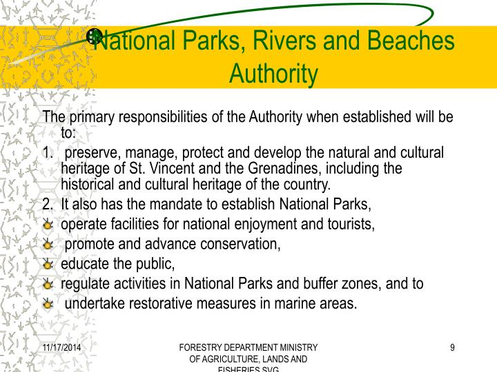 National Parks, Rivers and Beaches Authority