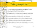 training analysis con t2