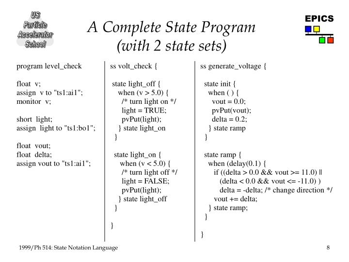 A Complete State Program