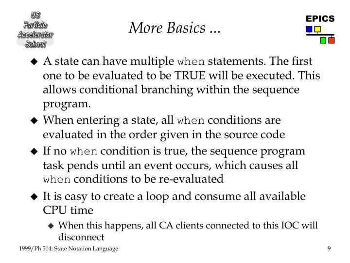 More Basics ...